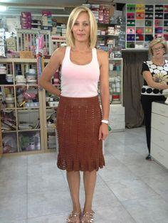 #falda realizada en #crochet con #hilo de #seda