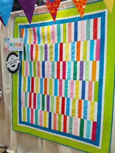 Straight and Narrow, pieced and quilted by Janice Ryan