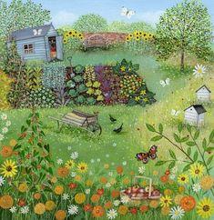Suffolk Original Paintings For Sale Garden Painting, Garden Art, Illustrations, Illustration Art, Landscape Illustration, Original Paintings For Sale, Art Deco Posters, Guache, Mexican Folk Art