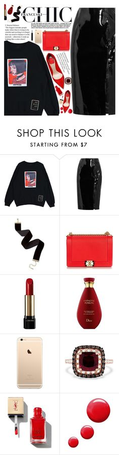 """""""Untitled #2176"""" by anarita11 ❤ liked on Polyvore featuring Topshop Unique, Chanel, Lancôme, Effy Jewelry and Topshop"""