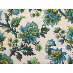 Pair of blue green Indian flower linen fabric curtain panels French... ($71) ❤ liked on Polyvore featuring home, home decor, window treatments, curtains, flower curtains, linen fabric curtains, linen drapery, linen drapery panels and aqua window panels