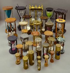 WE HAVE TIME: Hourglasses -- or sandglasses -- make great decorative accents in the home or office. The George Glazer Gallery has 19th and 20th century variations on these traditional timekeepers in a wide range of sizes and materials from $250 up.