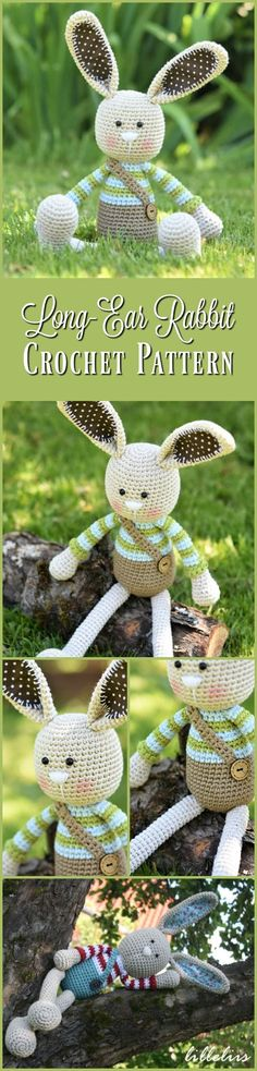 Long-ear Rabbit - crochet pattern, amigurumi pattern, PDF #etsy #ad #crochet #amigurumipattern #pdf #easter