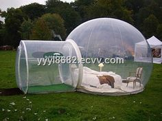 blow up clear PVC bubble tree camping lawn tent
