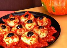 Halloween Recipes : She's Back! And Grosser than Ever! Bloody Eyeballs for your Halloween Dining Pleasure.