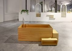 Bisazza Bagno - Nendo collection by Oki Sato Home, Bathtub, Bath, Furniture, Wooden, Wooden Bath, Bathroom Design, Bathroom