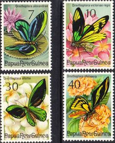 Papua New Guinea 1975 Fauna Conservation Butterflies Set Fine Mint SG 2816/9 Scott 415/8 Other European and British Commonwealth Stamps HERE!