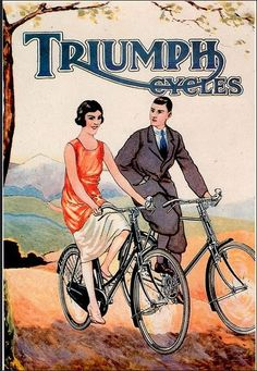 Just swooning over that beautiful ligature there. Triumph #cyclingposters @brooksengland via @uberbabygraphic