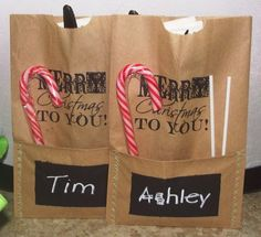Cutlery Bags with Chalk Board Paint Name Places or could leave label blank and put chalk on the table!