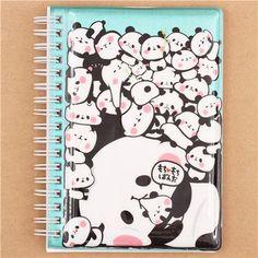 turquoise mochi panda bear sticker album book by Kamio from Japan