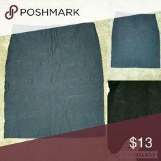 Skirt Black midi spandex skirt zipper on the back Minnie Rose Skirts Midi