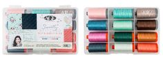 Thrilled to introduce Amy LeTourneau Sinibaldi of Nanacompany, a new designer for Aurifil threads. Her debut collection, Sweetly Stitched (SKU #AS5028SS12 and #AS503028SS10), is a gorgeous selection of colors inspired by her book of the same name and #Playground, her next fabric collection with Art Gallery Fabrics. Amy features #Aurifil 28wt & 50wt threads along with Aurifloss in her small collection to accommodate all of her needs.