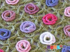 Crochet Baby Blanket Flower Baby Blanket Afghan by HowDoYouDoIt