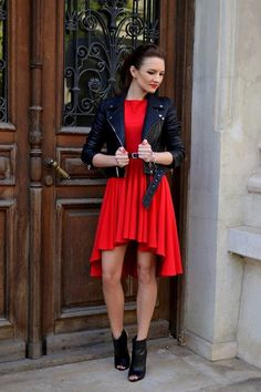 Fairytale Collection Red High Low Pleated Dress Fashion Photos