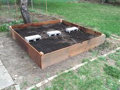Simple raised garden bed! Plus fire pit, compost and gardening upwards