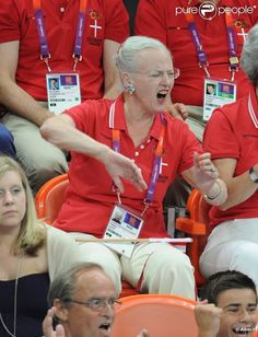 I proudly present to you, Her Royal Highness Queen Margrethe II of Danmark, everyone. That's MY queen!