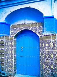 Beautiful blue tile patterns #Arabic #Andaluse #design