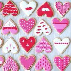 Foto da receita: Biscoitos decorados para o Dia dos Namorados