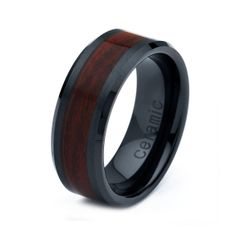Ceramic Wedding Band Men Ceramic Rings Mens Wedding by GiftFlavors, $67.77