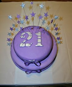 21st Birthday cake. Vanilla buttercream. 21st Birthday, Birthday Cake, Vanilla Buttercream, Baking, Desserts, Food, Bread Making, Birthday Cakes, Meal