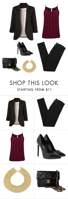 """""""Luxury style"""" by monika1555 on Polyvore featuring Yves Saint Laurent and Chanel"""