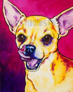 Chihuahua Print 8x10 by StudioSRV on Etsy,