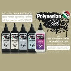 Polynesian Ink Professional Tattoo Inchiostro Per Tatuaggi - Tattoo Supply: Ingrosso forniture per tatuatori firmato Micromutazioni