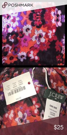 NEW! J CREW Floral Scarf NWT! Lightweight. 100% Viscose; dry clean only. J. Crew Accessories Scarves & Wraps