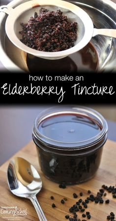 How To Make An Elderberry Tincture | Known for fighting the influenza virus H1N1, elderberries boost the immune system with their high vitamin content. Concentrate the benefits of elderberries with a homemade tincture recipe! | TraditionalCookingSchool.com