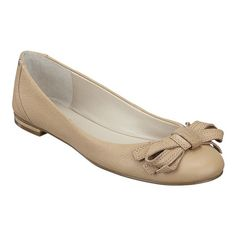 """Round toe flat with bow detail.  All leather upper on a 1/4"""" heel.  This style is available exclusively @ Nine West Stores & ninewest.com."""