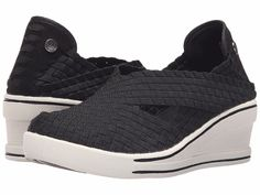 Women's Shoes Bernie Mev. Deluxe Casual Woven Wedges Black