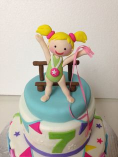 Gymnastics Girl cake topper