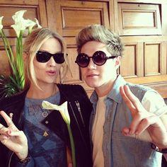 """""""NiallHoran: Last week I wore her underwear on my head, this week we swap sunglasses ! #hashtag"""""""