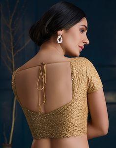 Golden Blouse Designs, Brocade Blouse Designs, New Saree Blouse Designs, Saree Jacket Designs, Salwar Neck Designs, Simple Blouse Designs, Stylish Blouse Design, Blouse Back Neck Designs, Designer Blouse Patterns
