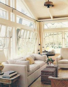 Natural light is a MUST in my home. I hate dim rooms! These windows are odd-looking, but I like how much light they let in!