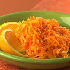 Carrot Saute with Ginger & Orange (use olive oil)