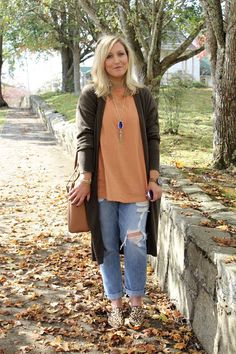 LaLa Life: Fall Colors + Boyfriend Jeans