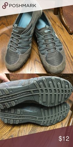 *LAST DAY FRIDAY!* Skechers Bikers Gray slip on sneakers. Leather/textile upper. Outside shows a few signs of wear but the structure is still in very good condition. Will be taking down Friday to sell at an event in town. Get it before it's gone! Skechers Shoes