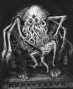 Rhan-Tegoth by Orm-Z-Gor on DeviantArt Cthulhu Art, Lovecraft Cthulhu, Creepy Monster, Monster Art, Arte Horror, Horror Art, Bloodborne Art, Lovecraftian Horror, Eldritch Horror