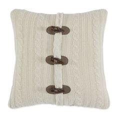 Buy Croscill® Aspen Fashion Square Throw Pillow in White from Bed Bath & Beyond