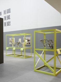 Konstantin Grcic - The Good, The Bad, The Ugly (Neue Sammlung / Pinakothek der Moderne) Exhibition Stand Design, Museum Exhibition, Kunming, Environmental Design, Design Museum, Retail Design, Installation Art, Scene, Concept