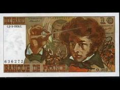 French banknotes French franc money currency of France before the Euro. - YouTube