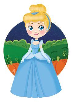 Chibi Disney Fairy Collection: Cinderella by on DeviantArt Cute Disney Drawings, Disney Princess Drawings, Disney Princess Pictures, Princess Cartoon, Cute Drawings, Baby Disney, Disney Love, Disney Magic, Chibi Disney