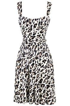 belted leopard dress.