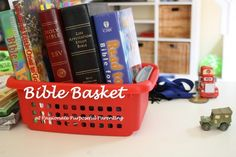 Bible Basket at Passionate Purposeful Parenting - Bible Study Ideas for all ages