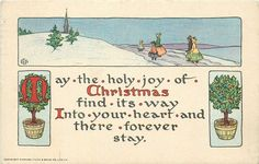 MAY THE HOLY JOY OF CHRISTMAS FIND ITS WAY INTO YOUR HEART AND THERE FOREVER STAY rural winter inset - TuckDB