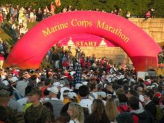 Marine Corps Marathon - gonna do it for a third time. Don't have a 1000 mi move or wedding to stop me this time, so it will happen. Getting ass in gear already