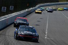 Kasey Kahne Photos Photos - Kasey Kahne, driver of the #5 Farmers Insurance Chevrolet, leads a pack of cars during the Monster Energy NASCAR Cup Series O'Reilly Auto Parts 500 at Texas Motor Speedway on April 9, 2017 in Fort Worth, Texas. - Monster Energy NASCAR Cup Series O'Reilly Auto Parts 500