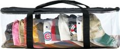 Miles Kimball Clear Cap Storage Case Keep Ypur Cap Collection Neat and Dust Free See-thru Cap Storage Bag Durable PVC Case Find Your Favorite Cap Easily Zipper Top Closure Bag with Handles Baseball Cap Rack, Baseball Hat, How To Clean Hats, Hat Storage, Storage Ideas, Hat Holder, Hat Organization, Best Caps, Ubs