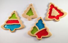Baked Stained Glass Christmas Cookies